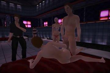 Pár szexelnek egy virtuális swinger klubban