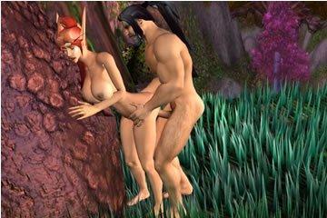 Virtuális szex - randevú az erdőben