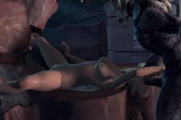 Virtuális szex - szörnyek és gangbang